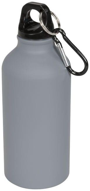Matná športová fľaša Oregon 400 ml s karabínkou