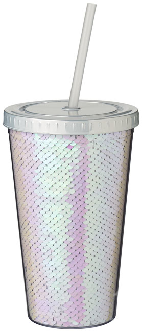 Akrylový pohár Festus 470 ml s flitrami
