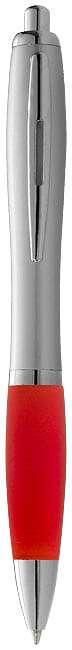 Strieborné guľôčkové pero Nash s farebným úchopom