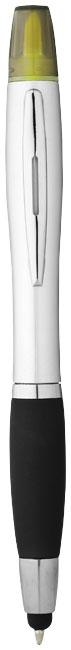 Strieborné guľôčkové pero