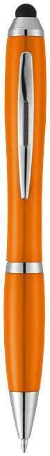 Farebné guľôčkové pero a stylus Nash s farebným úchopom