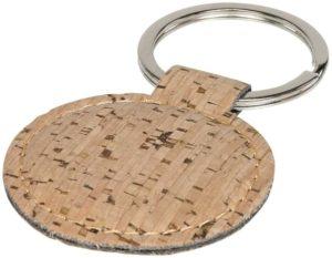 Guľatý prívesok na kľúče s designom korku